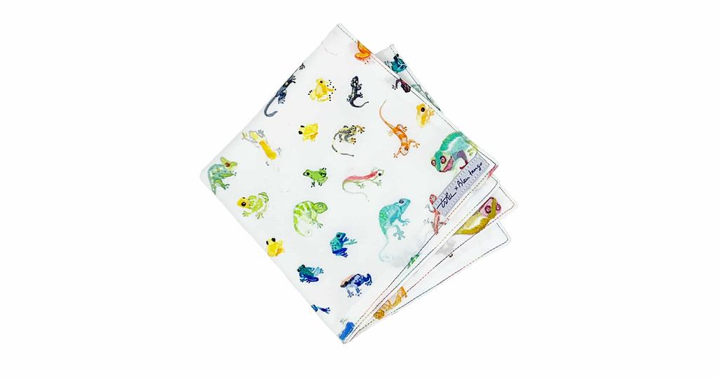 cute handkerchief with gecko print