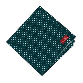 spotted green handkerchief with white polka dots