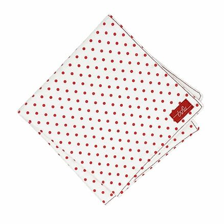henri red spotted handkerchief