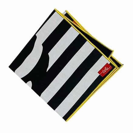 black and white handkerchief