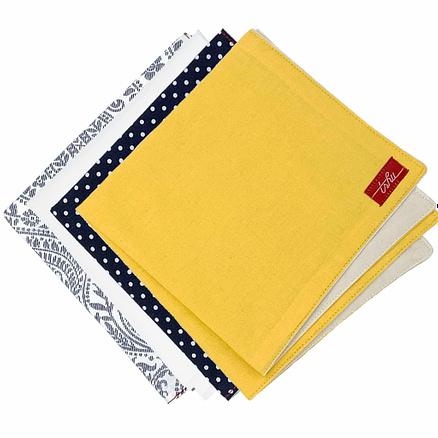 four absorbent handkerchiefs