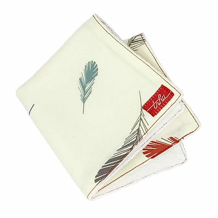 feather washcloth