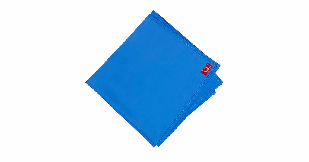 large handkerchief - blue organic cotton