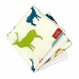 organic washcloth with deers