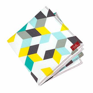 Thick, colourful cotton handkerchief