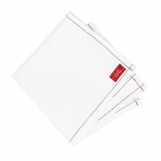 mouchoir tissu blanc
