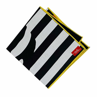 black and white handkerchief