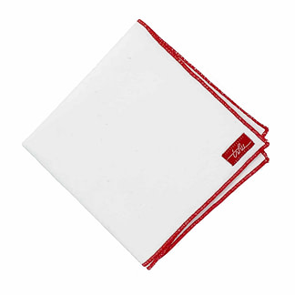 white flannel handkerchief