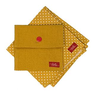 adele mustard handkerchief