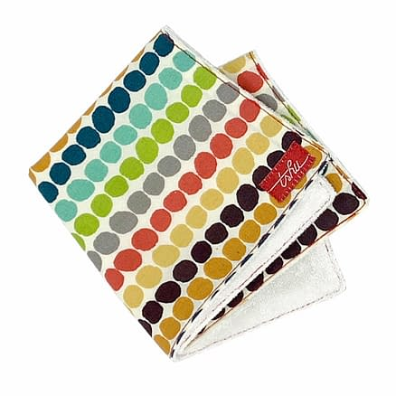 organic washcloth with multicolour spots