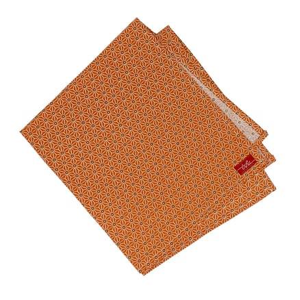 orange cloth napkin