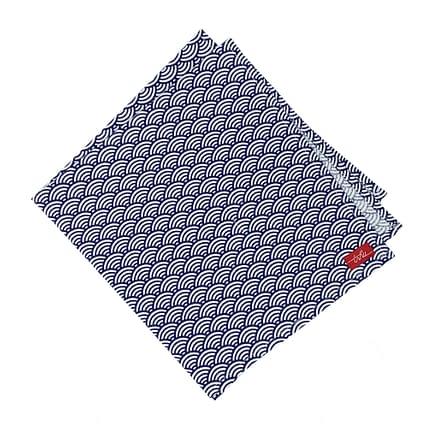 blue cloth napkin