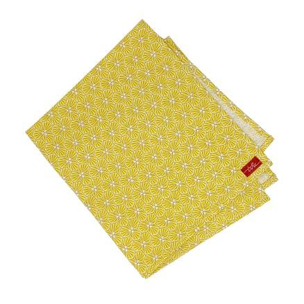 serviette en coton jaune