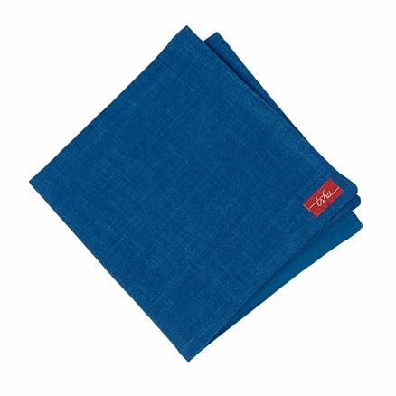 blue linen napkin