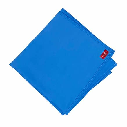 grand mouchoir bleu en coton
