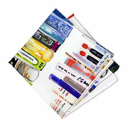 mouchoir tissu unique avec motif livres
