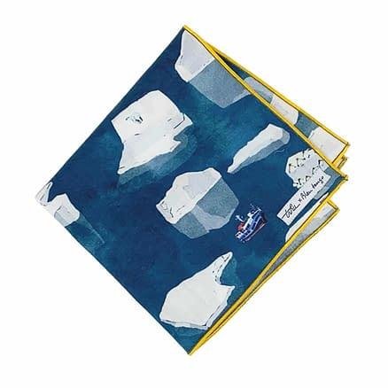 lightweight handkerchief with arctic pattern