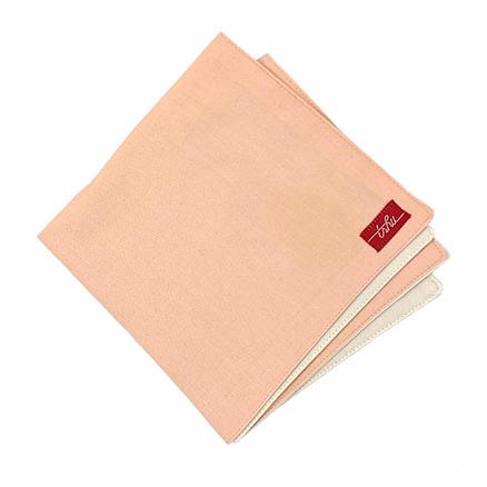 mouchoir tissu rose