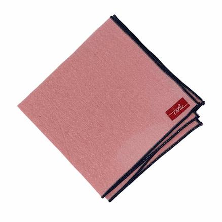 mouchoir en tissu rose saumon