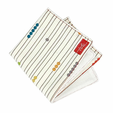 bamboo washcloth with abascus print