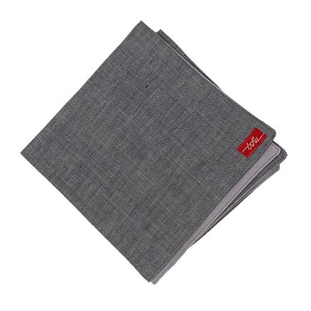 serviette de table en lin grise